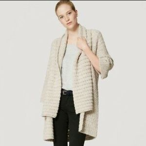 Ann Talor Loft Chunky Knit Shawl Cardigan Sweater